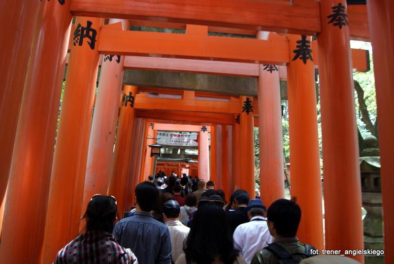 Tłumy turystów w świątyni Fushimi Inari